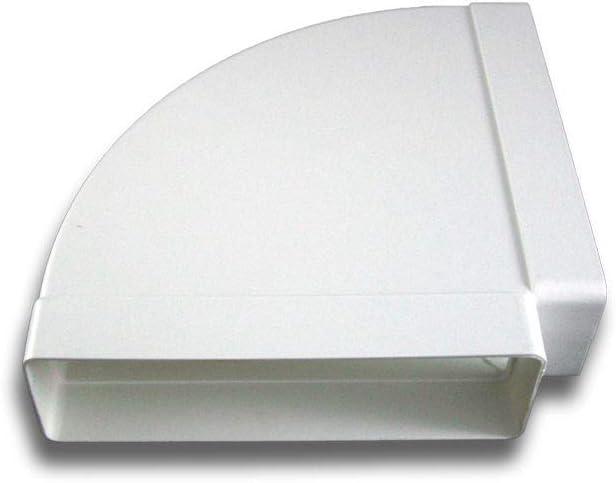60x204 90/° Bogen Kanalbogen horizontal Abluft Zuluft L/üftung System 125