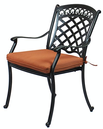 4 St. Tropez Cast Aluminum Dining Chairs with Cushions Review