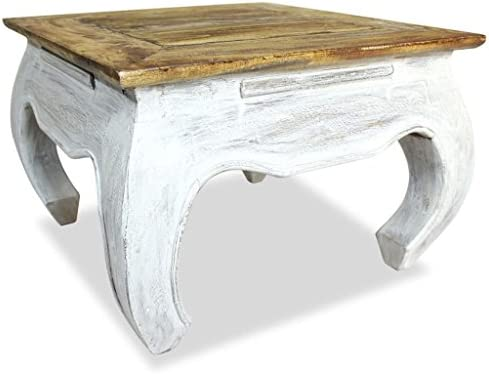 Festnight Vintage End Side Coffee Table Handmade Antique Furniture Solid Reclaimed Wood