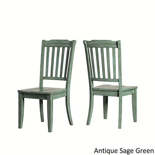 Chair Back Slat Oak (Inspire Q Eleanor Slat Back Wood Dining Chair (Set of 2) by Classic Sage Antique)
