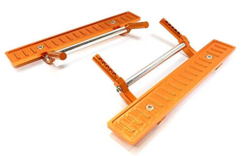 Integy RC Model Hop-ups C26726ORANGE Billet Machined T2 Side Step (2) Kit for SCX-10, Dingo, Honcho & Jeep
