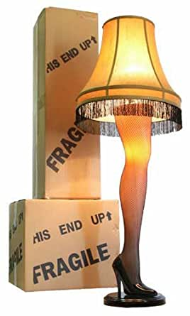 "A Christmas Story House - A Christmas Story Full Size 45"" Leg Lamp, Cream"