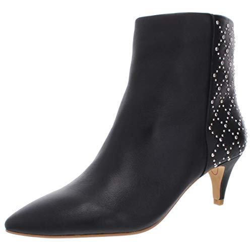 Dolce Vita Women's DOT Ankle Boot, Black Leather, 7 M US (Boots Dolce Vita 7)