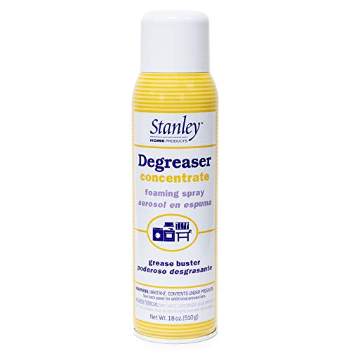 Stanley Home Products Degreaser Concentrate Foaming Spray - All Purpose Commercial & Industrial Grease Remover & Grime Cleaner For Kitchen, Car & Boat