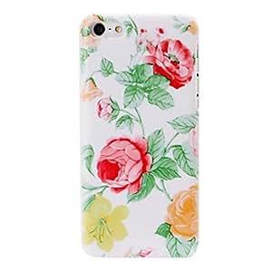 Pequeñas flores de color rojo / amarillo fresco pintura estuche rígido de plástico patrón para el iphone 5c