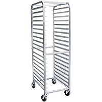 AmGood Commercial Kitchen Pan Rack - Heavy Duty, Bun Pan Sheet Rack, NSF Certified with Wheels (20 Tier Pan Rack)