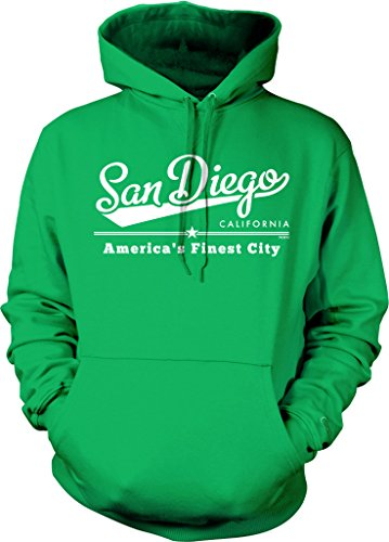 San Diego, California, America's Finest City Hooded Sweatshirt, NOFO Clothing Co. M Kelly