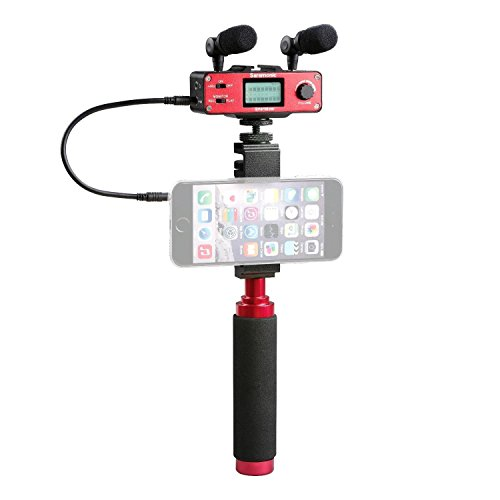 Portable Video Mixer - Smartphone Video Rig ,Saramonic Phone Filming Kit with Dual Stereo Microphones, Audio Mixer for Apple iPhone 5, 5C, 5S, 6, 6S, 7 (Regular and Plus), Samsung ,Perfect for live-streaming, vlogging