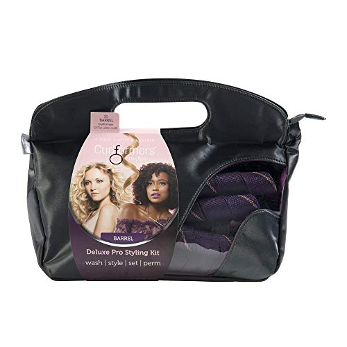 Curlformers Hair Curlers Deluxe Range Barrel Curls Styling Kit, 30 No Heat Hair curlers & 2 Styling Hooks for Extra Long Hair up to 24
