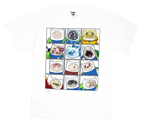 Adventure Time - Faces of Finn T-Shirt - Small