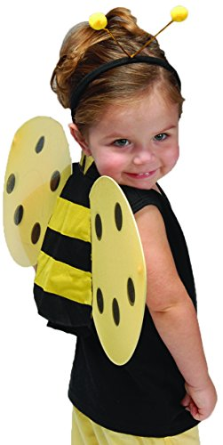 [Child Size Honey Bee Wings and Antenna Costume Set] (Bee Wings Halloween Costume)