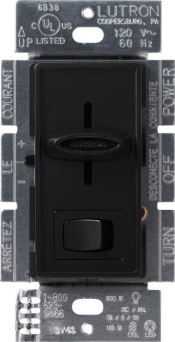 Lutron Skylark C.L Dimmer Switch for Dimmable LED, Halogen and Incandescent Bulbs, Single-Pole or 3-Way, SCL-153P-BL, (Black Dimmer)