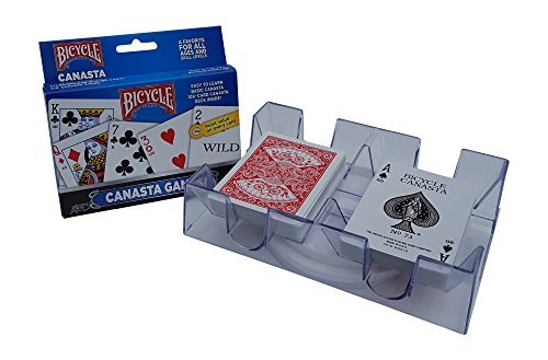 - Canasta Games Playing Cards With 2 Deck Rotating Card Tray Holder Set