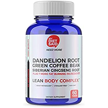 My Diet Said Lean Body Complex Premium Fat Burner & Metabolism Booster - Fast Effective Weight Loss for Men and Women, 60 Capsules