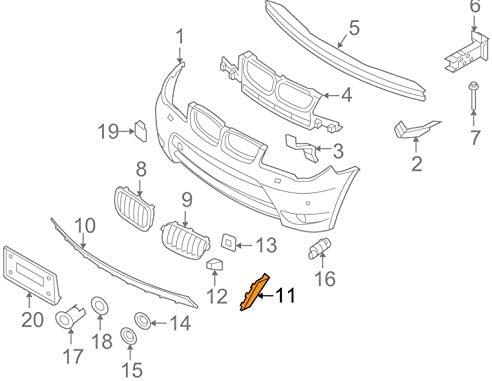 GTV INVESTMENT X3 E83 Pare-chocs avant gauche 51113401929 3401929