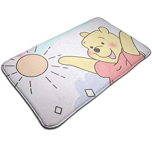 Duwamesva Bath Mat- Winnie The Pooh Design, Non Slip Absorbs Soft Rug Carpet for Indoor Outdoor Patio