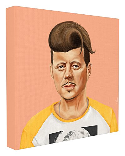 Stupell Home Décor HIPSTORY Hipster JFK John F. Kennedy Oversized Stretched Canvas Wall Art, 24 x 1.5 x 24, Proudly Made in USA