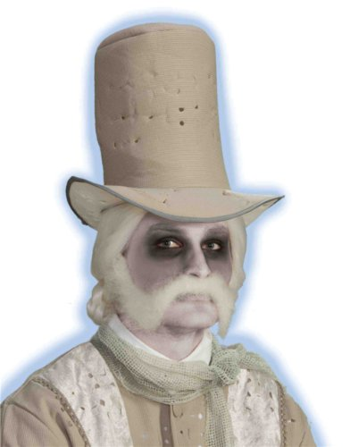 Gentleman Ghost Costume (Ghostly Gentleman Moustache with Sideburns)