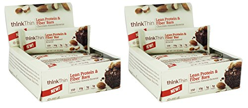 Think Thin 20 Pack (2 X Box of 10)- (Fiber Chocolate Almond Brownie)