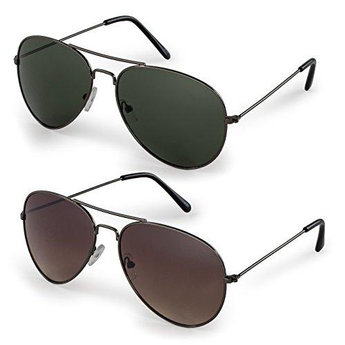 Stylle Classic Aviator Sunglasses with Protective Bag, 100% UV Protection (Aviator Sunglasses For Men Online)