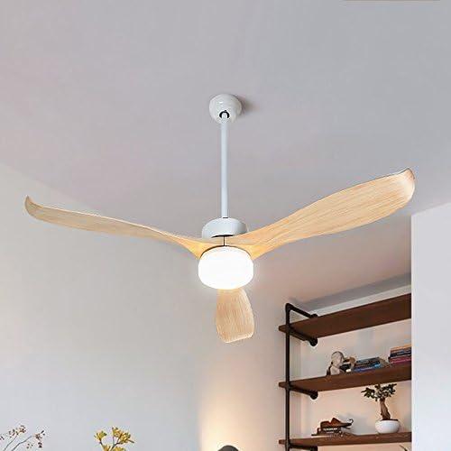 Lámparas Colgantes LED Ventilador de Techo Remoto, Sala de Estar ...