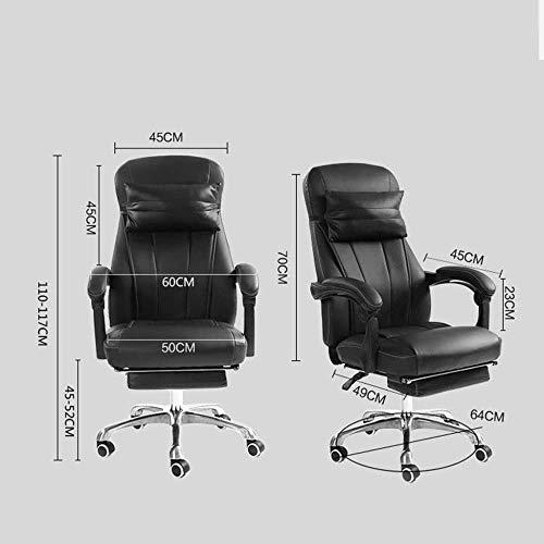Barstolar Xiuyun modern hem kontor stol vegan läder stoppad verkställande konferens snygg design justerbar mellanrygg ergonomisk skrivbordsstol