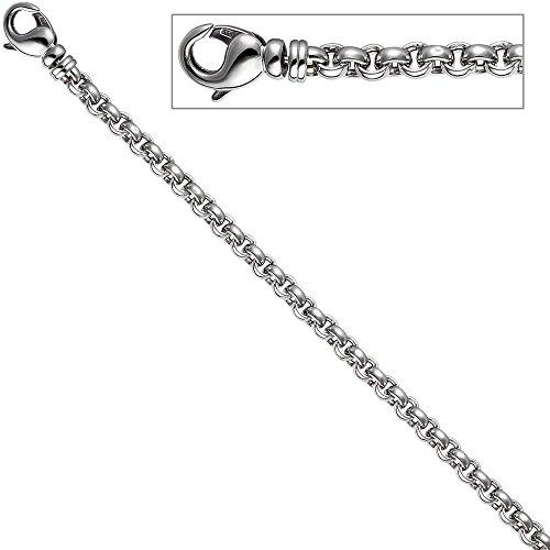 JOBO erbsarmband or blanc 585 goldarmband mousqueton - 21 cm