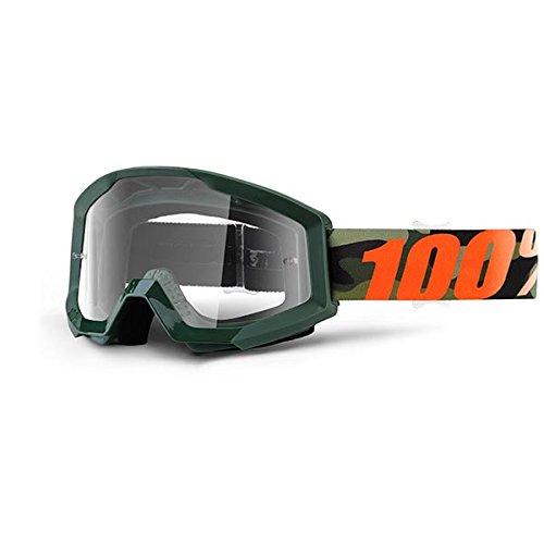 100% Unisex-Adult Speedlab (50400-234-02) STRATA Goggle Huntsitan-Clear Lens, One Size) by 100%