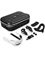 Esimen All-in-one Hard Case for Oculus Quest 2 Head Strap Face Mask Grip Cover Accessories Set Carrying Bag,Includes K3 Elite Strap, Lens Protect Cover