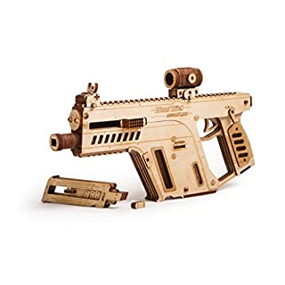 Wood Trick Assault Gun Wooden Model Kit for Adults and Teens to Build - Toy Gun, Guns for Kids - 3D Wooden Puzzle Mechanical Model