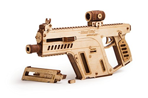 Wood Trick Assault Rifle Gun Wooden Model - Toy Gun, Guns for Kids - 3D Wooden Puzzle Mechanical Model to Build, Assembly Model, Brain Teaser for Adults and Kids (Best Models To Build)