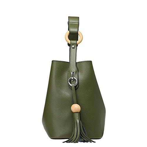 Bandouliere Main Sac Vert Cuir Valin Femme Souple Sac À Epaule Q0801 wtYRtvx7Sq