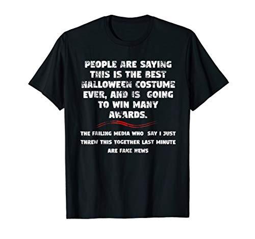 Trump Halloween Funny Last Minute Costume T shirt -