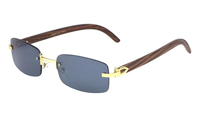 Amazon.com: Dean - Gafas de sol de aviador de metal y madera ...
