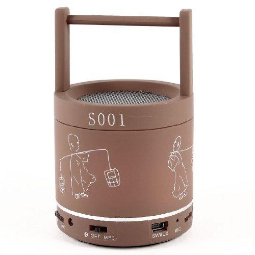 eDealMax Cioccolato Colore TF Card Bluetooth portatile Spearker Handsfree Mic