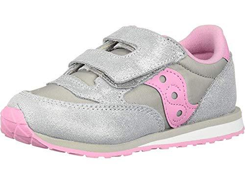 Saucony Girls' Baby Jazz HL Sneaker, Silver/Pink, 115 Medium US Little Kid (Shoes Saucony Little Kid)