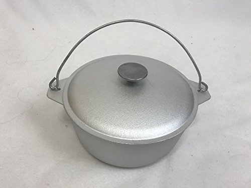 NEW 3 quarts (3 litter or 0.8 gallon ) kitchen outdoor Cooking camp fire pan cookware Cast Aluminum pot dual handles camping Dutch Oven with Lid vintage style kazan казан Campfire / Stove cauldron