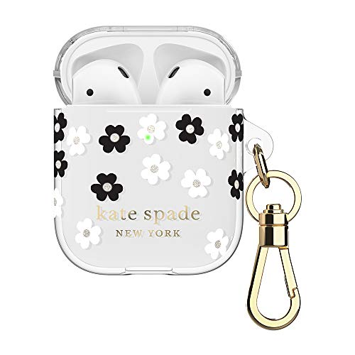 kate spade new york Scattered Flowers Case for AirPods 2 & 1 – Protective Wireless Charging Cover with Keychain (Front…