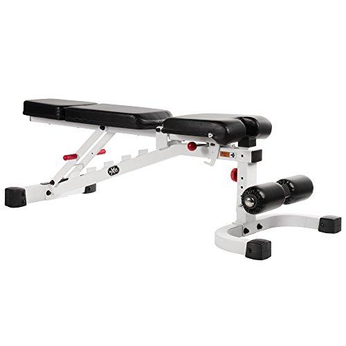 XMark Fitness XM-7604-WHITE Fid Bench