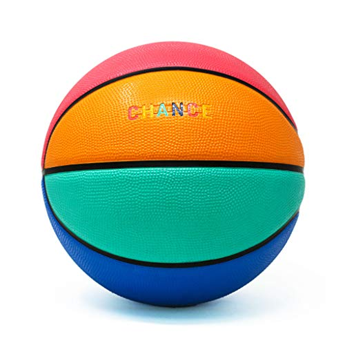 Chance Premium Rubber Outdoor/Indoor Basketball (Size 5 Kids & Youth, 6 WNBA Womens, 7 Mens NCAA & NBA Basketball) (Size 27.5, 28.5, 29.5)