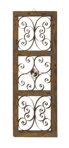 Benzara The Wonderful Wood Metal Wall Panel