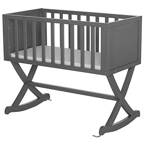 - Dream On Me Luna Cradle, Steel Grey