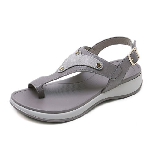 Ruiren Women Wedge Sandals,Summer Beach Shoes for Ladies Grey