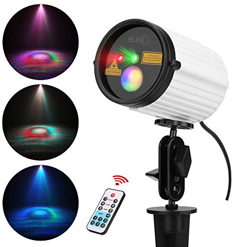 Outdoor Laser Light SUNY Red Green Projector Light Static Star dots Laser Light Colorful Wave LED Light IP65 Waterproof Landscape Laser Ligh For Bedroom Home Pool House Garden Yard Holiday Light Show -