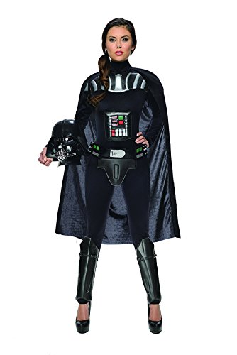 [Women's Star Wars Darth Vader Deluxe Costume Jumpsuit, Multi, Small] (Sexy Jumpsuit Costumes)