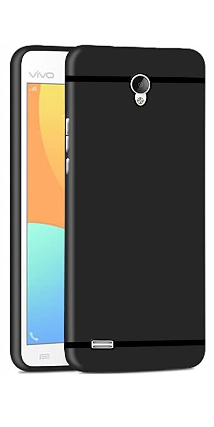 brand new 3ea59 087a3 DigiPrints Sleek Matte Vivo Y21L,Tpu Rubberized Back Case Cover Black With  Shining Line With All Sides Protection For Vivo Y21L