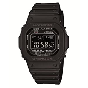 41ZQVhVFUOL. SS300  - Casio Men's GW-M5610-1BJF G-Shock Solar Digital Multi Band 6 Black Watch