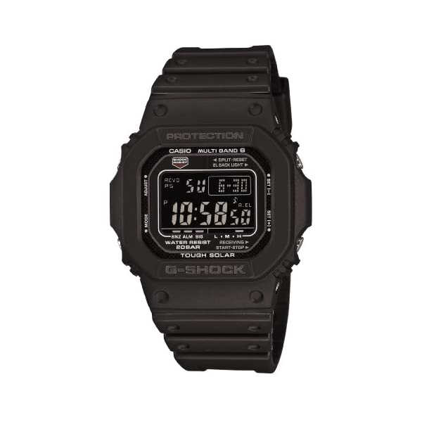 41ZQVhVFUOL. SS600  - Casio Men's GW-M5610-1BJF G-Shock Solar Digital Multi Band 6 Black Watch
