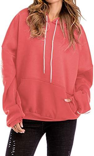 Gresanhevic レディース厚暖かい暖かいトップスプルオーバーは、ポケット付きルーズカジュアルクラシックスウェットシャツ