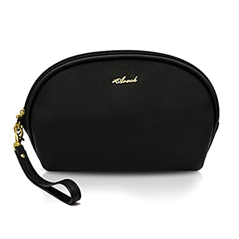 Arvok Makeup Toiletry Bag Travel Cosmetic Pouch Clutch Purse Handy Organizer, Black